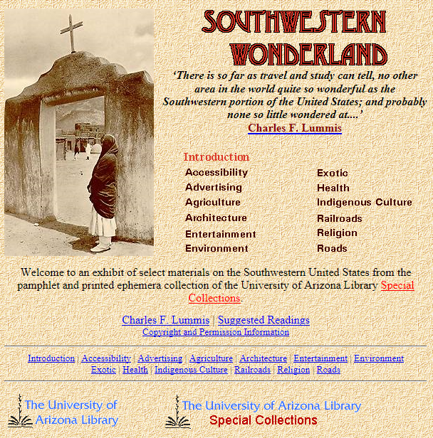 Southwestern Wonderland Website